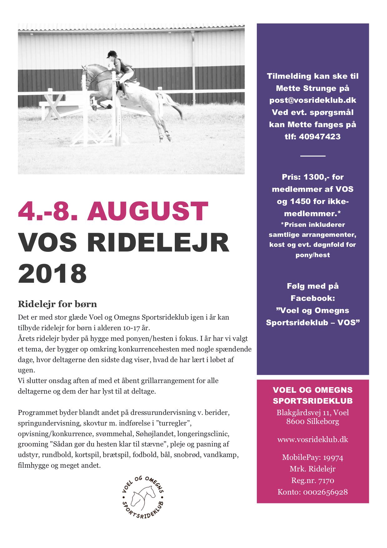 VOS Ridelejr 2018